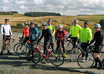 Club ride in the Beacons